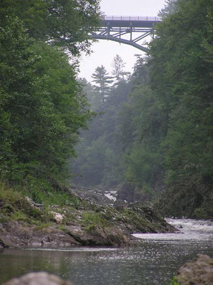 bridge from gorge