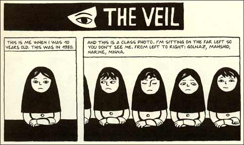the first two panels of persepolis michaelalexanderchaney the first two panels of persepolis dramatize a conflict between individuality and universality that recurs throughout the narrative