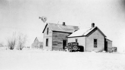 Winter-Scene,-Farmhouse,-Barn-and-Windmill-1920s